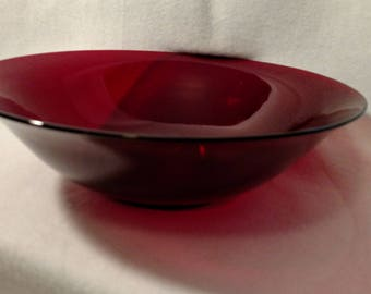 1940's Anchor Hocking Ruby Red Bowl