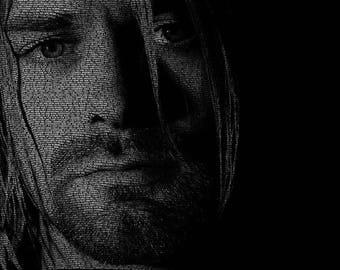 Word Art Poster - Kurt Cobain