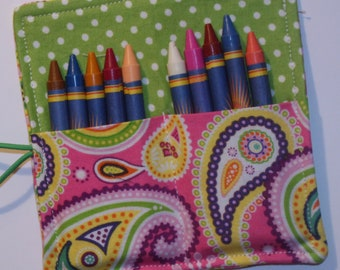 Multi Colored Crayon Roll, Party Favor, Party Supplies, Gift Basket, Party Favor, Wedding Favor, School Supplies, Daycare Supplies