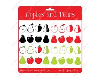 Digital Scrapbook Designs Apples and Pears Instant Download