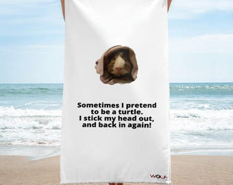 Talking Guinea Pig Quote Towel