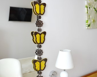Decor for the house. Wooden butterflies with lace.