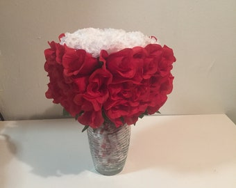 Dry flowers bouquet with candy