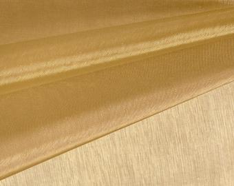 Brass Organza Fabric by the Yard, Wedding Decoration Organza Fabric, Sheer Fabric - Style 1901