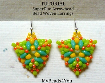 PDF Tutorial Bead Woven Earrings, Seed Bead Earrings, Earring Tutorial, Beadwork Tutorial, Beadwoven Earrings,Beaded Jewelry,MyBeads4You