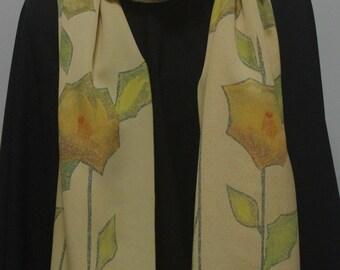 Japanese Vintage Kimono Silk Scarf, Shawl or Wrap