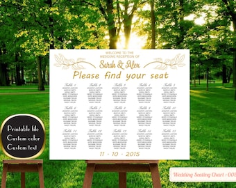 Printable Wedding seating chart poster, Printable seating chart, find your seat sign,Chalkboard Wedding Seating Chart, Wedding Seating Chart