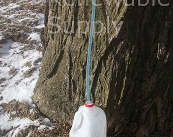 """5 NEW Sugar Maple Taps & 24"""" Hoses 5/16"""" Tree Saver syrup tree sap spout -Free shipping."""