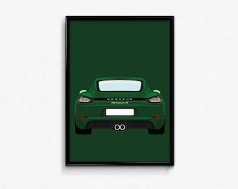 Porsche 718 Cayman S A3 Print