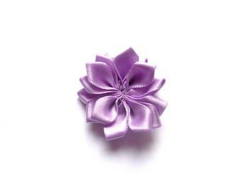 Flower purple rayon fabric
