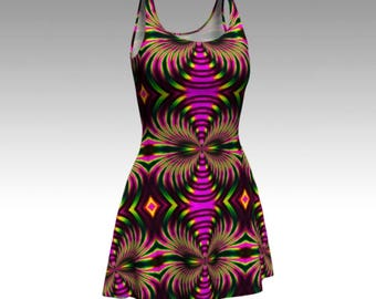 Psychedelic Dress, Tribal Dress, Festival Dress, Flare Dress, Skater Dress, Bodycon Dress, Fitted Dress, Sheath Dress, Batik Dress, Hippie