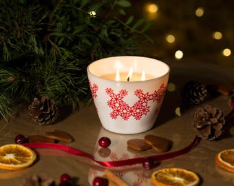 Cinnamon+orange.Beautiful handmade candle, from natural soy wax,with aroma essential oils. Great housewarming gift for your family with love