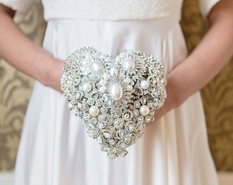 Deposit for a Stunning Heart Shaped Diamante/Crystal Brooch Bouquet