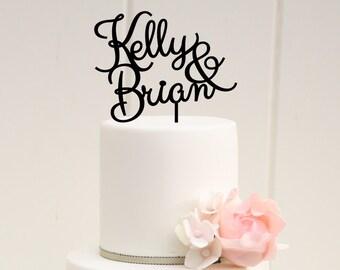 Customized Wedding Cake Topper, Personalized Cake Topper for Wedding, Custom Personalized Wedding Cake Topper, First Names Cake Topper