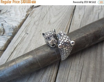 ON SALE Adjustable Tiger ring handmade in sterling silver
