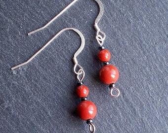 Red Jasper gemstone Bead Earrings