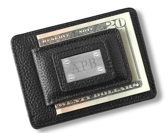Engraved Money Clip and Card Holder, Monogram Money Clip , Personalized Money Clip- Groomsmen Gift, Fathers Day