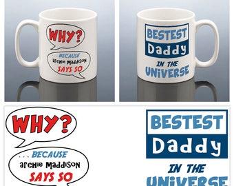 BEST DADDY MUG Best Dad Mug Fathers Day Gift Personalised Daddy Birthday Cup