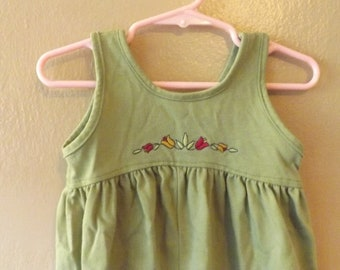 Carter's 90s Green Jumpsuit Jumper Romper Toddler Girls Clothes Girls Size 6 to 9 Mos Green Casual