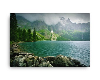 Canvas, Lake-in-mountains