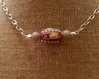 Beaded Bar Necklace