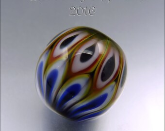 MULTICOLOURED FOCAL BEAD – Lampwork Pendant Bead  Focal Handmade Jewelry Supplies - by Stephanie Gough sra fhfteam leteam