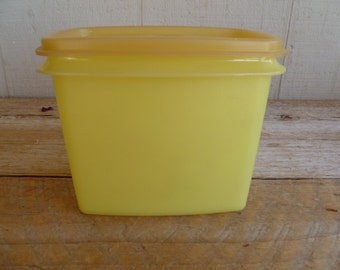 Vintage Tupperware Gold Canister Container