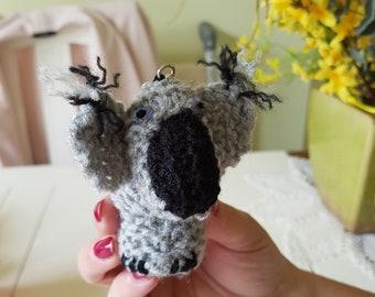 Homemade Knitted Key Ring Koala Bear