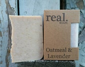 Oatmeal & Lavender Soap,  Handmade Soap, Homemade Soap, Natural Soap, Vegan Soap,  Artisan Soap, Bar Soap,Gift, Gift Soap, Organic
