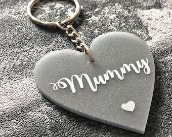 Mummy Keyring ~ Mummy Gift ~ Mum Keyring ~ Gifs For Mum ~ Mum Gift ~ Glitter Keyring ~ Mother Keyring ~ Mother's Day Gift ~ Rose Gold