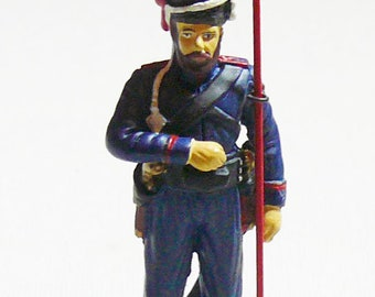Painted Tin Soldier 54 mm Napoleonic Don Cossack 1812