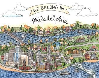 """We Belong in Philadelphia 8.5x11"""""""