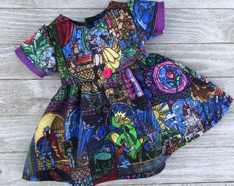 18 Inch Doll Disney Beauty and the Beast Stained Glass Dress