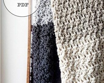 Crochet Pattern / Crochet Blanket Pattern / Blanket Pattern / Whiteowlcrochetco Everest Blanket