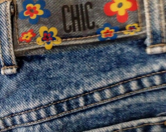 Flower Power Retro Chic Jeans