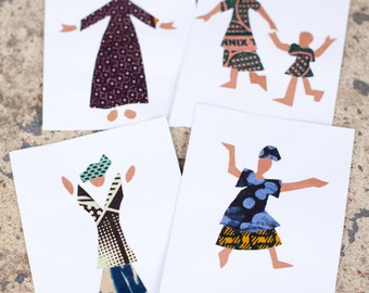 Happy Women Greeting Cards