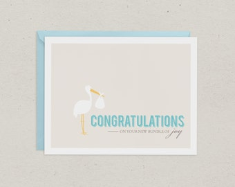 Clearance | Baby Card | Greeting Card | Congratulations | Baby Boy