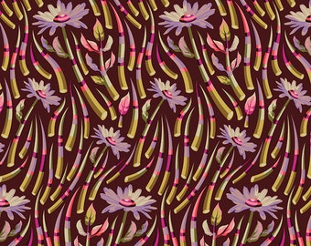 Tula Pink OOP Acacia Fabric - Quills in Pomegranate - PWTP038.POMEGRANATE