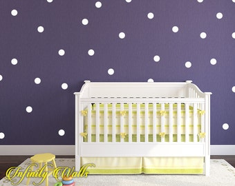 Polka Dot Wall Decals - Set of 120 Polka Dot Decals - Pattern Decals - Peel and stick - Nursery room decor - Confetti Polka Dot Wall Decor