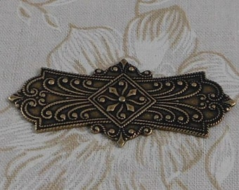 LuxeOrnaments Oxidized Brass Filigree Bracelet Focal (Qty 1) F-3565-1-B
