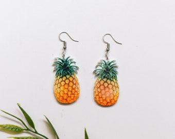 Pineapple earrings, pineapple, acrylic pineapple earrings, fruit earrings, earrings, food earrings, fruit, acrylic earrings, pineapples