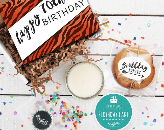 Mini Happy 70th Birthday Gift Box - Milestone Birthday | Send a Birthday Gift | Birthday in a Box | Friend Gift | 70th Birthday Card