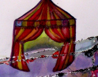 Magic Lamp/Circus Tent - Fine Art Original Painting 30x22