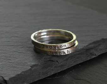 Tiny Personalized Ring, Name Ring, Sterling Silver Ring, Stackable Name Ring, Custom Ring, Mother's Ring, Family Rings