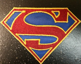 Supergirl Inspired Embroidered Patch, Superman Inspired Embroidered Patch,  Iron on Superheroes patches, Comic book hero patches, S Patch