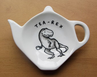Tea-Rex Tea Bag Tidy - Dinosaur spoon rest