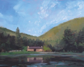 July Morning - Crater Lake Camp - Philmont - New Mexico - Original Oil Landscape Painting