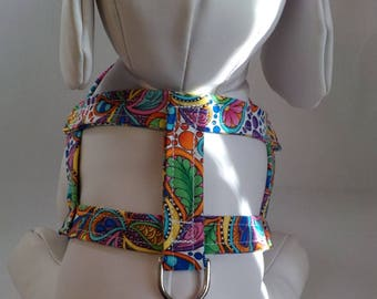 Dog Harness - Dog Clothes - Dog Harness - Dog Harnesses - Packed Paisley - Custom Dog Harness  - Designer Dog Fashion - Small Dog Harness