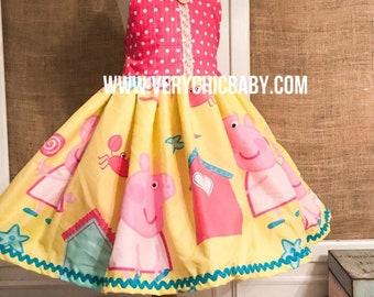 Peppa Pig Dress, Peppa Pig Birthday Outfit, Peppa Pig Birthday Dress, Peppa Pig Dress Girls, Peppa Pig Costume, Peppa Pig Birthday, Peppa