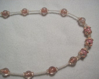 Pale Pink Necklace- Reduced Price